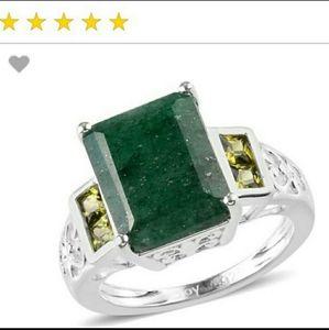Beautiful green adverturine stone ring